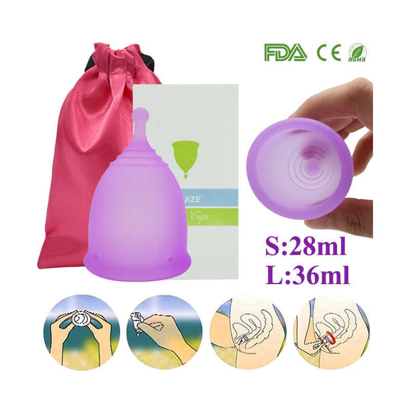 Furuize Copa reutilizável período menstrual Lady Cup higiene feminina copo Menstrual Boa do que almofadas copo de Cuidados de Saúde Das Mulheres Terno Do Esporte