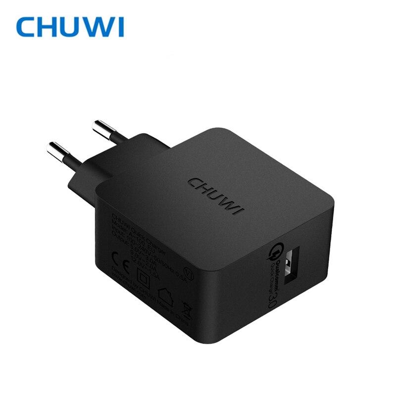 CHUWI Hi-Caricatore QC3.0 Potere Caricatore Del Bacino Della Parete Adattatore di Ricarica Rapida 5 V 3A, 9 V 2A, 12 V 1.5A Output per Samsung Xiaomi mobile di potere