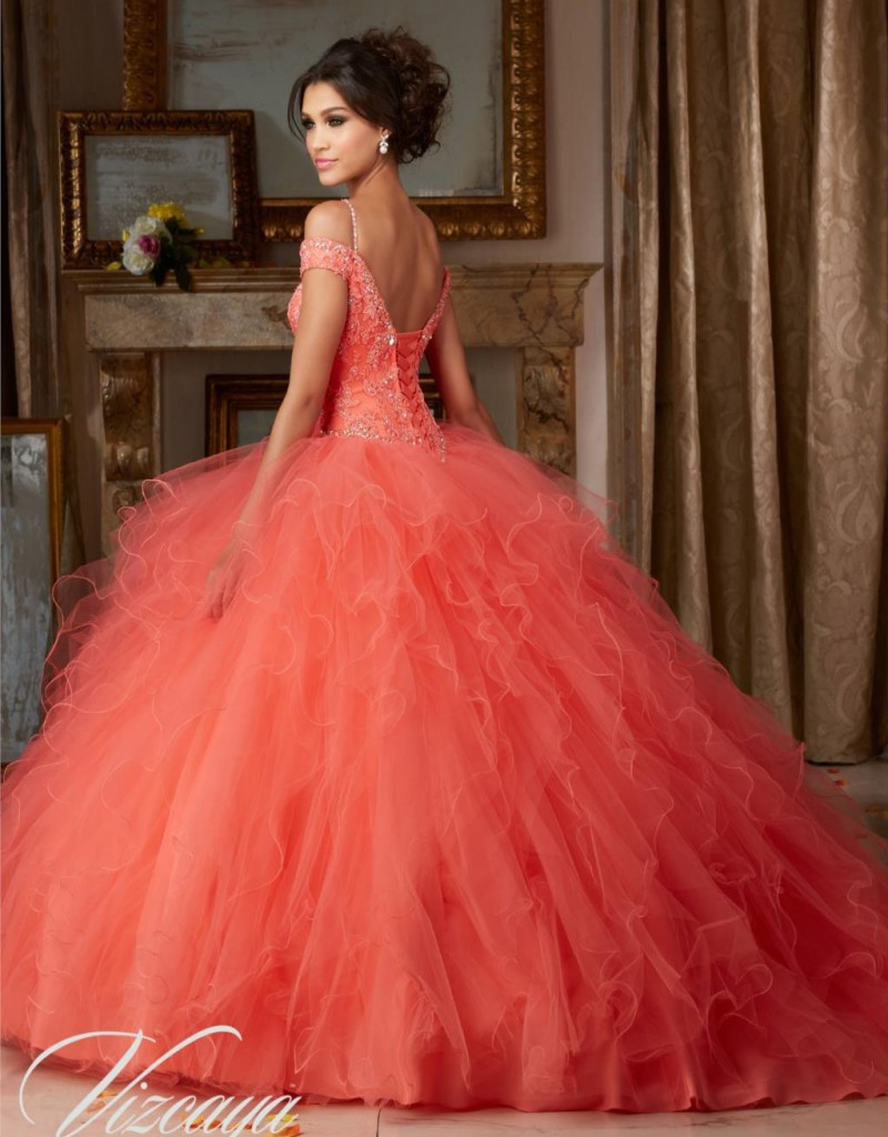 cac0de3f3 Coral Blue Champagne Quinceanera Dresses Puffy Ball Gown Lace Vestidos De  Quince Anos 2016 Sweet 16 Girls Dress-in Quinceanera Dresses from Weddings  ...