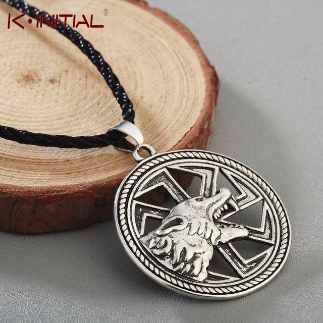 US $3 89 |Kinitial Slavic Amulet Wolf Totem Ax Kolovrat Charm Vintage  Amulets Men's Valknut Rune Animal Pendant Nordic Talisman Jewelry-in  Pendant