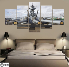 5 Panel Military USS Iowa Navy War Weapon Poster Printed Painting For Living Room Wall Art Decor  Picture Artworks Poster wall iowa bicent series