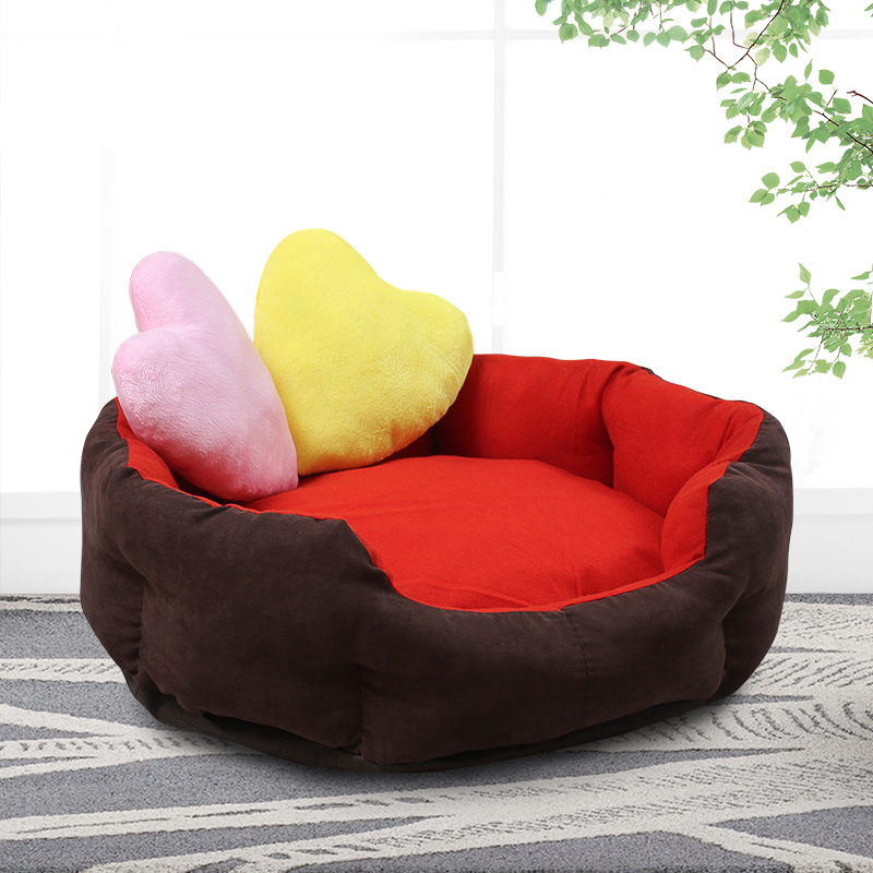 New Warming Pet Bed Fall and Winter Warm Soft Fleece Mat Kennel Lovely Dog House Bed for Cat Puppy Pet Supplies Accessories in Houses Kennels Pens from Home Garden