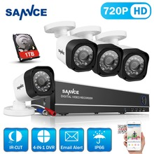 SANNCE 8CH 720P 1.0MP CCTV System Eight Channel Array 1280TVL Video Surveillance Package 1280*720P Residence Safety Digital camera System