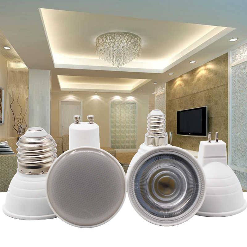 לא ניתן לעמעום GU10 MR16 LED הנורה זרקור 220 v 9 w COB שבב קרן זווית 120/60 פלסטיק אלומיניום ספוט מגניב אור שולחן תקרה