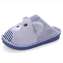 Plus Size Men's Indoor Winter Slippers 2016 Khaki Grey Color Warm Home Floor Bedroom Plush Animal Fur Slippers Man House Shoes