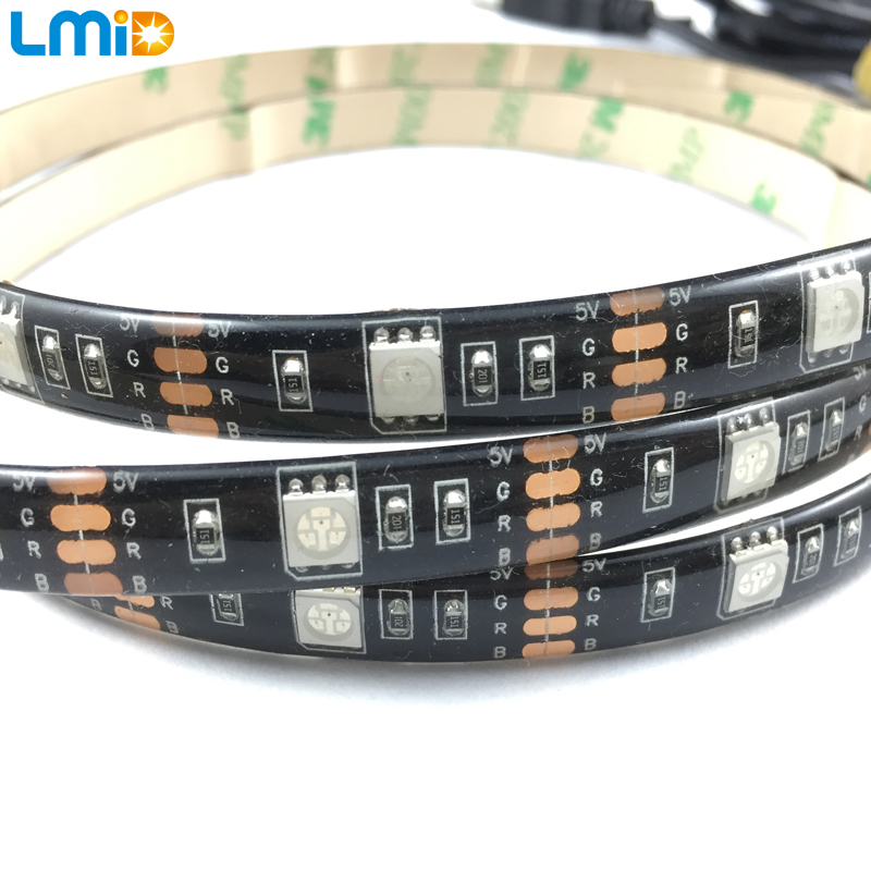 buy lmid smd5050 rgb multi color usb bluetooth tv background led strip lights kit pc wall mood light by android u0026 ios app control from