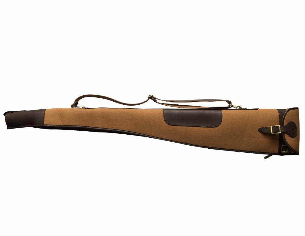 Tourbon tela e pelle vintage borsa da trasporto custodia antiscivolo shotgun fucile da caccia 134,6/cm