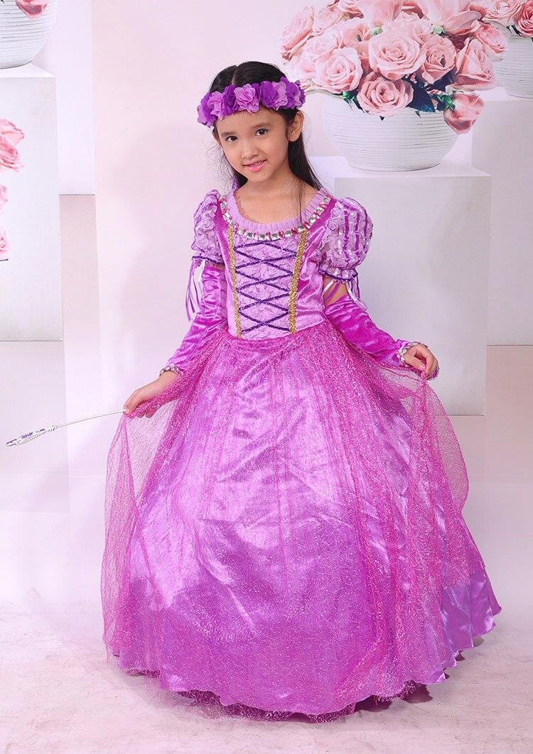 Excelente Vestido De Fiesta Rapunzel Colección de Imágenes ...