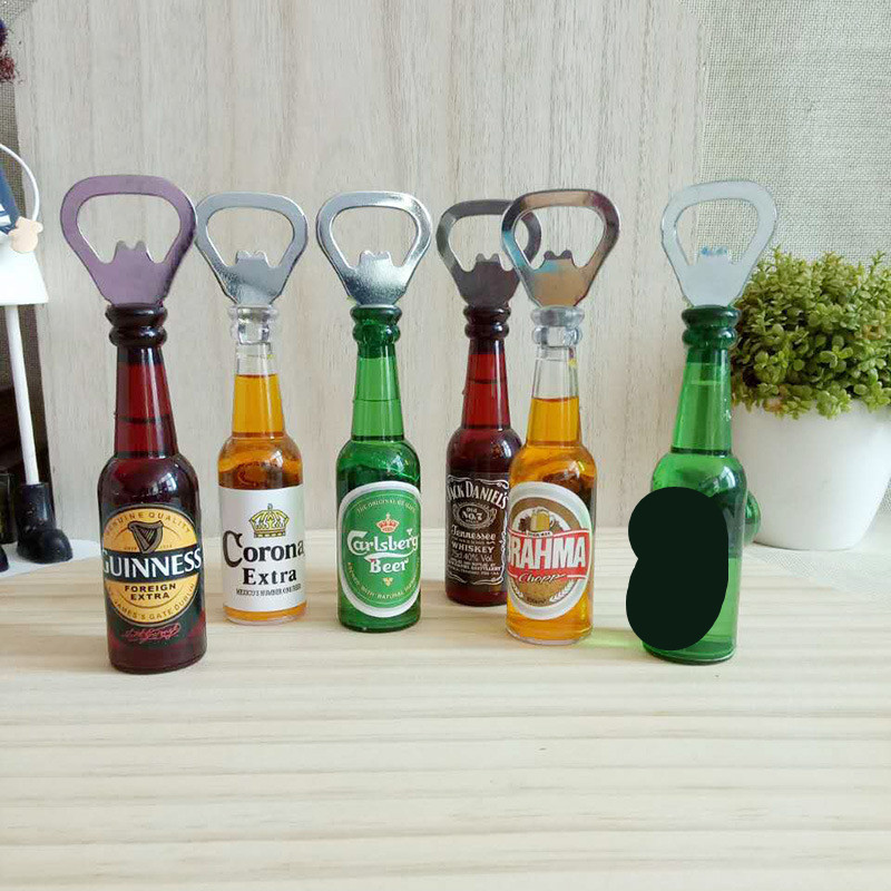 1PC Creative Beer Bottle Shape Magnet Refrigerator Stick Home Decoration Characteristic Bottle Opener No Water ME 010