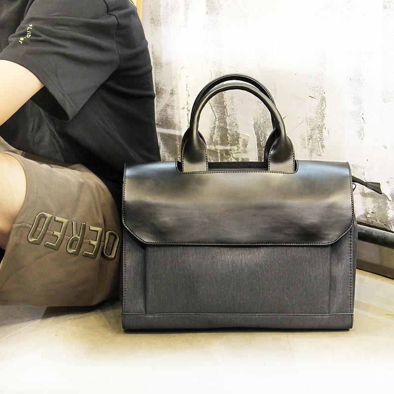 2018 tendance en nylon toile coréen affaires décontracté hommes sac de voyage à main sac à bandoulière Messenger sac livraison gratuite