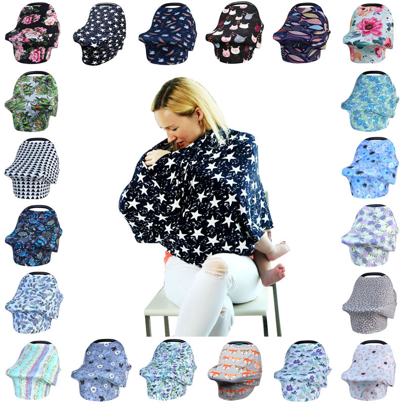 All-in-1 Nursing Breastfeeding Covers Baby Car Seat Canopy For Boy & Girls Soft Nusing Cover Stroller Covers Shopping Cart CoverAll-in-1 Nursing Breastfeeding Covers Baby Car Seat Canopy For Boy & Girls Soft Nusing Cover Stroller Covers Shopping Cart Cover