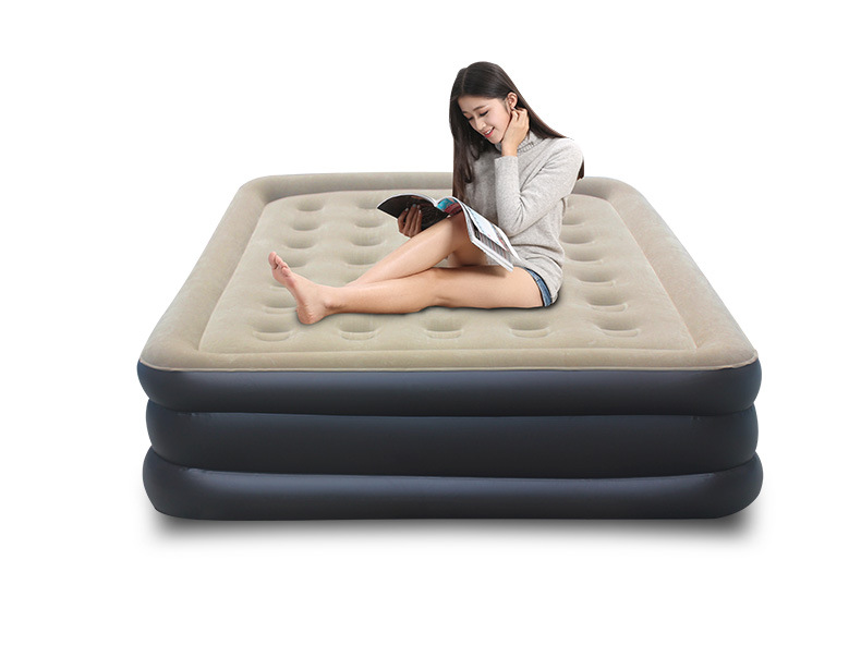 luxury inflatable air flocking PVC large chair, home furniture seat lounge sofa beds , foldable sofa cushions sofa cama inflable
