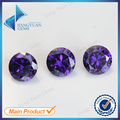 50pcs 5A 0.8-6.0mm Amethyst Color Loose Cubic Zirconia CZ Stone Round Shape European Machine Cut Synthetic Gemstone