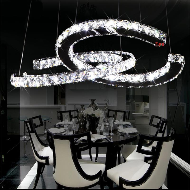 Yanghang Chandelier Led Crystal Ring Chandelier Ring Crystal Light Fixture Luster Chandelier Ceiling Led Lighting Circles Lamp Ceiling Lights & Fans Lights & Lighting