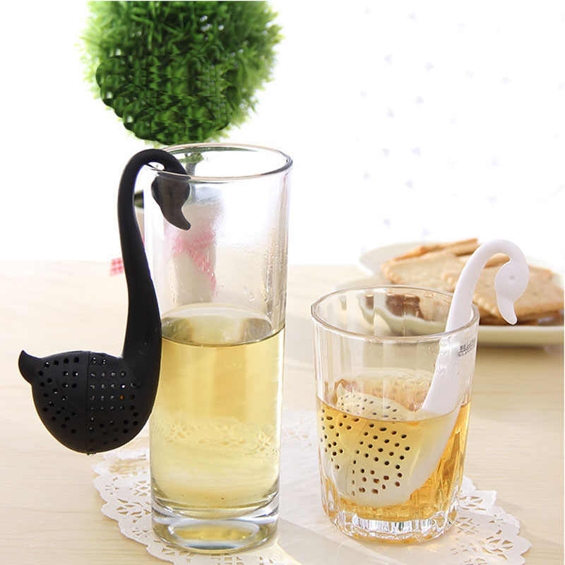 Novelty Tea Infuser Swan Loose Tea Strainer Herb Spice Filter Diffuser zaparzacze do herbaty Y