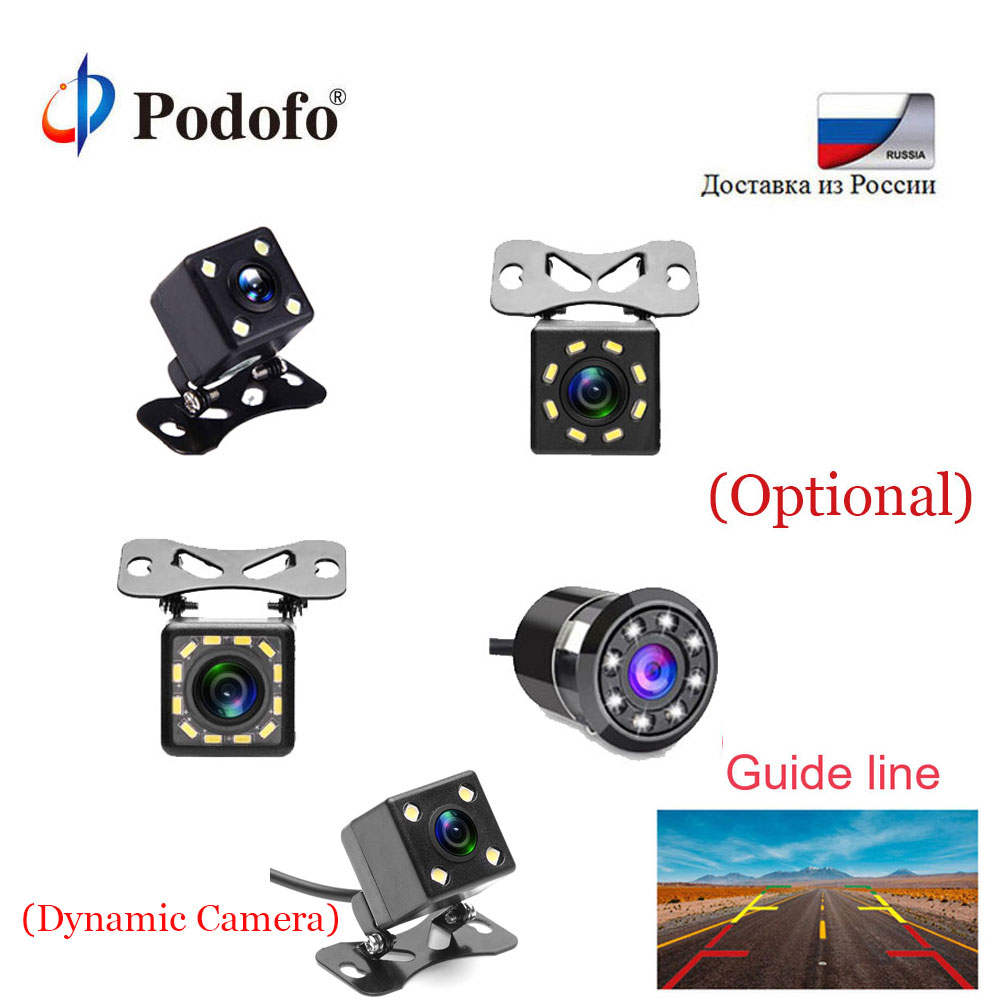 Podofo Reverse Camera HD Car Rearview Camera Wide View Angle Vehicle Camera Reverse Parking Assistance Rearview Backup Camera