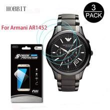 42ec6f0cd89 AR1452 3 Pack Para Armani Relógio Inteligente Tela LCD Guarda Protetor de  Tela Limpar Anti-