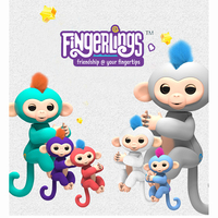Fingerlings Interactive Baby Monkeys Toy Smart Colorful Finger Monkey Smart Induction Toys Christmas Gift Toy For