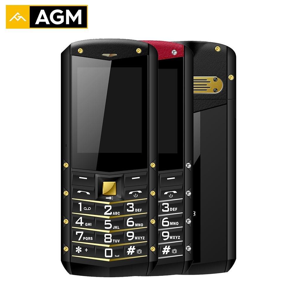 AGM M2 Fonction Téléphone 2.4 2G GSM Dual SIM Arrière 0.3MP IP68 Antichoc Étanche Extérieur lampe de Poche 1970 mAh Russe Langue FM