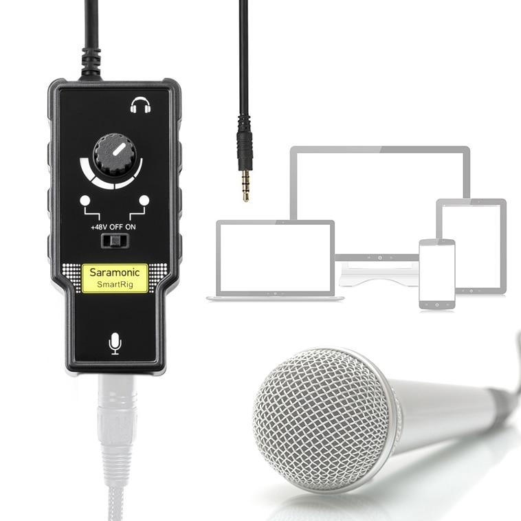 Saramonic Smartrig XLR microfoonvoorversterker Audio-adapter met - Draagbare audio en video