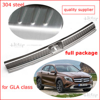 For GLA Class Rear Door Sill Trunk Threshold Scuff Plate Rear Bumper Protection 2015 2016 Quality
