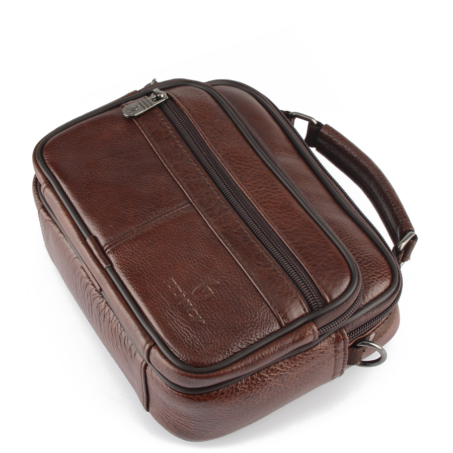 2020 Genuine Cowhide Leather Shoulder Bag Small Messenger Bags Men Travel Crossbody Bag 8