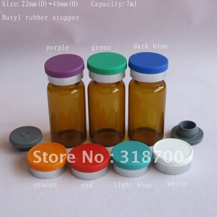 3ml Amber Small Glass Vial W// Screw Lid,Brand New Bottles 6~200pcs Free Shipping