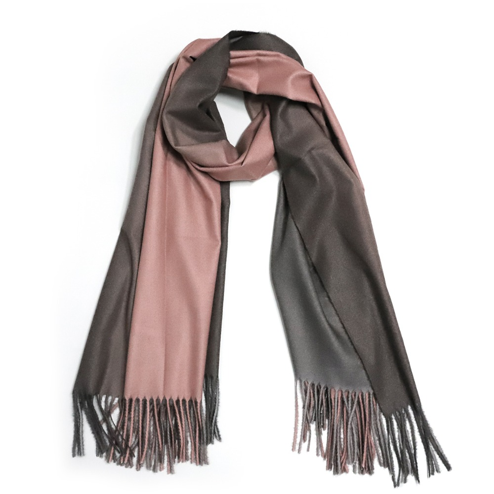 2018 Brand Autumn Winter Double-Faced Gradient Solid Color Winter Warm Shawl Tassel Scarf Luxury Fashion Scarves