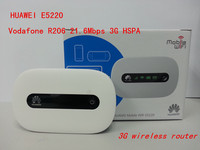 Huawei E5220 21M 3G Mobile Wifi Hotspot Router Unlocked Free Shipping PK E5186 E5377 E5450 E5220
