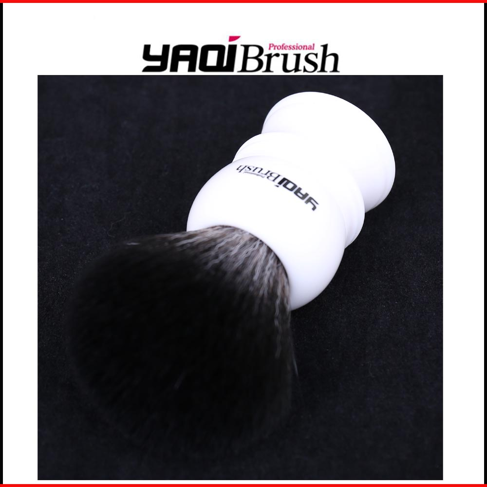 22mm Size Knot White Handle Black Synthetic Hair Shave Brush