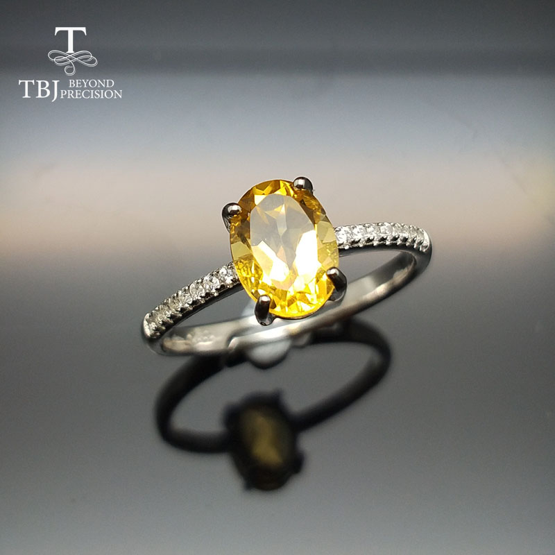 TBJ,Simple Elegant Classic Small ring with natural citrine ov6*8mm in 925 sterling silver gemstone ring for women girl as a giftTBJ,Simple Elegant Classic Small ring with natural citrine ov6*8mm in 925 sterling silver gemstone ring for women girl as a gift