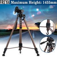 WT3530 Protable Camera Tripod Professional Aluminum Alloy With Quick Release Plate Rocker Arm For DSLR Camera DV Camcorder