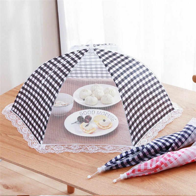 Складной летний кухонный защитный тент-зонт для хранения пищи, Открытый походный лист для торта, сетка из кружева, москитная сетка, свежесть