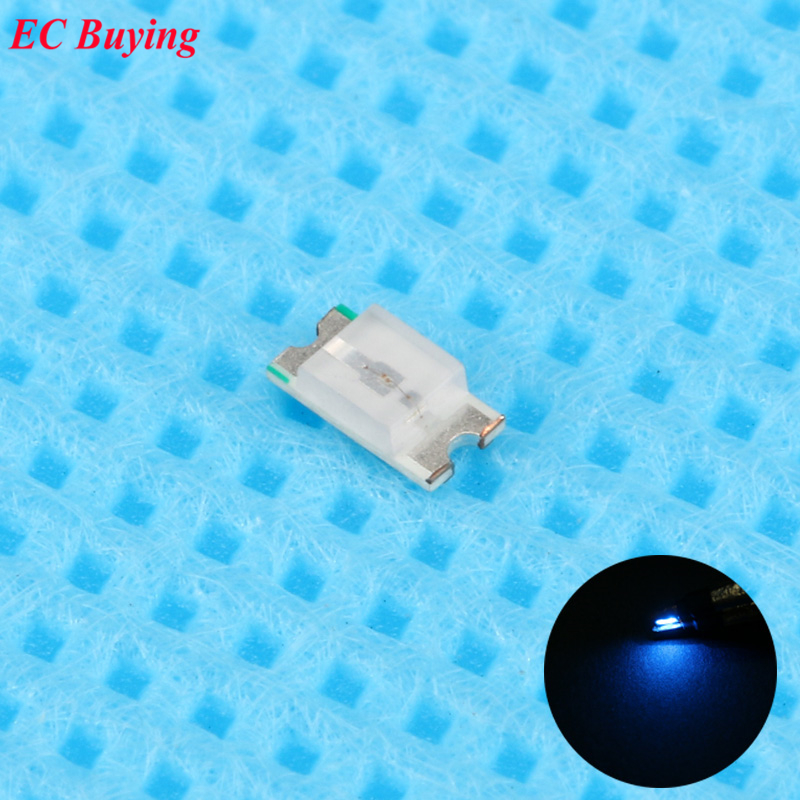 100pcs 0603 (<font><b>1608</b></font>) Blue <font><b>LED</b></font> <font><b>SMD</b></font> Chip Bulb Lamp Surface Mount SMT Bead Ultra Bright Light Emitting Diode <font><b>LED</b></font> DIY Highlight image