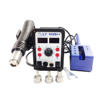 2017 LY 952D Dual Led 2 In 1 Hot Air Rework Soldering Station With Auto Sleep