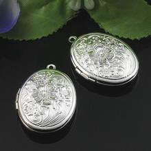 2 шт оптом посеребренные 23*29 мм овальные фото медальоны пустые