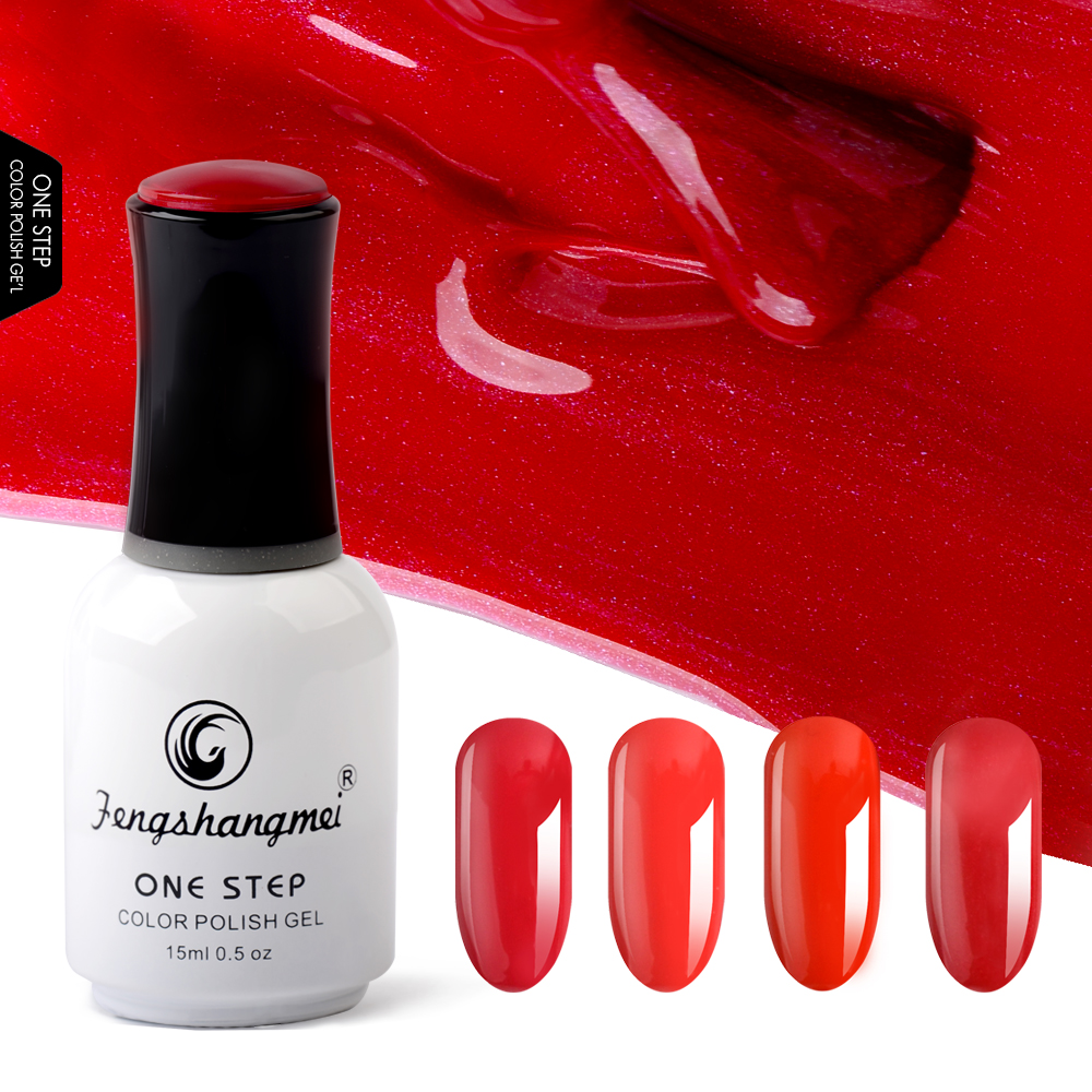 Fengshangmei 15ml 3 in 1 Manicure Pedicure Gel Polish Nail Art Design One Step Nail Gel