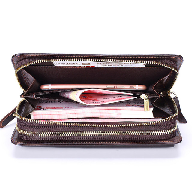 Business Genuine Leather Clutch Wallet