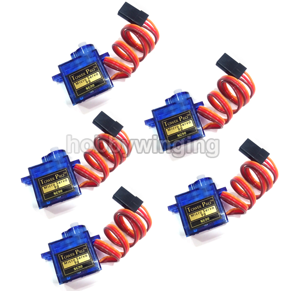 5pcs lot Tower pro SG90 RC Micro Servo 9g For Arduino Aeromodelismo Align Trex 450 Airplane
