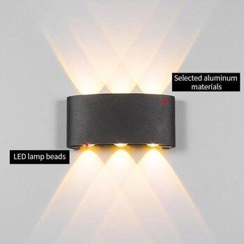 JJD 2 Вт 4 Вт 6 Вт алюминиевый настенный светильник для проекта, Квадратный светодиодный настенный светильник, прикроватная комната, спальня, н...