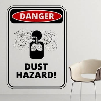 Danger Symbol Air Pollution Dust Hazard Warning Signs illustration Haze PM2.5 Environmental Protection Topics Removable Wall Sti signs