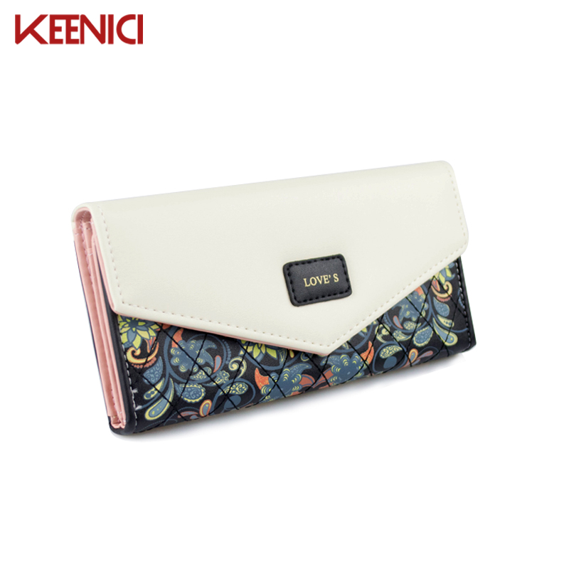 KEENICI Famous Brand Designer Luxury Long Wallet Women Wallets Evening Clutch Female Bag Ladies Money Coin Purse Carteras Cuzdan long designer women wallets new female hollow out wallet money bag lady card coin purse carteras cuzdan bolsa feminina