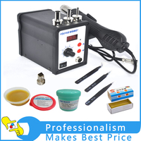 Hot 220V 700W 858D ESD Soldering Station LED Digital Solder Iron Mang Gift As Picture Show