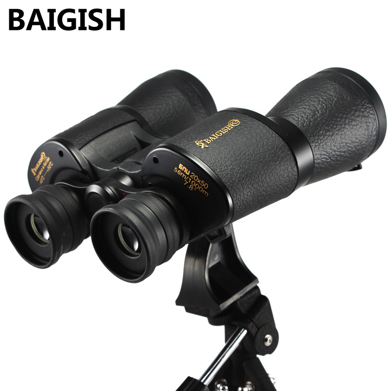 BAIGISH 20X50 Binoculars Telescope High Definition Portable Glimmering Night Vision Hunting Embroider Monoculars Field glasses