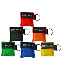 50Pcs/Lot Optional Color Cpr Resuscitator Mask Keychain Emergency Face Shield Aed Cpr First Aid Mask Hygiene