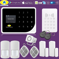 Golden Security S5 Wireless Home Security WIFI GPRS GSM Alarm System APP Remote Control RFID Password