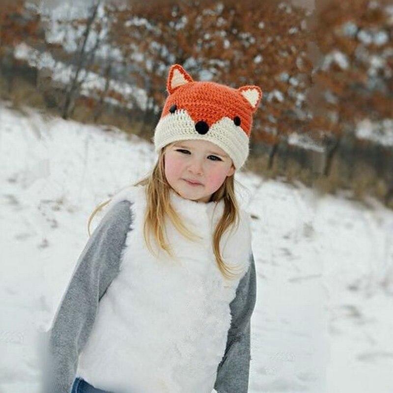 07698881ca0 Cartoon Long Ears Boy Girl Knitted Cap Striped Woolen Caps Rabbit Bunny  Baby Beanies Hats Winter ...