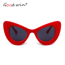 GOOD WIN Sexy Super Cat Eye sunglasses Women Vintage Clout Goggles Chunky Wrap Rim 2018 brand Vintage Sun Glasses lunette de sol