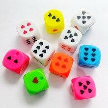8pcs E143 multi color Dice pendant for Key Chain Man School Bag Birthday Party F