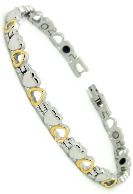 Free shipping+100%stainless steel+2000 gauss Magnetic+ Germanium IPG Charm  bracelet+ Fashion jewelry
